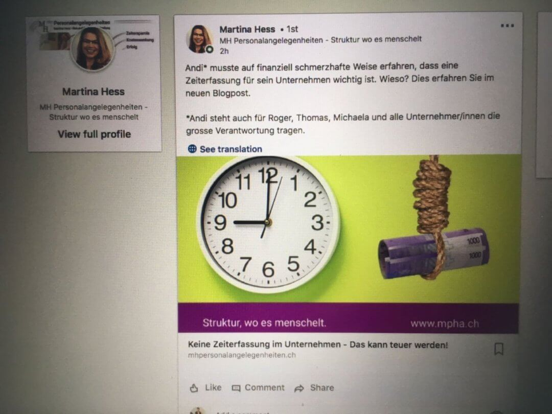 Martina Hess Personalangelegenheiten_Business Storytelling_Ancilla Schmidhauser_Akquise Stories_Blog Post