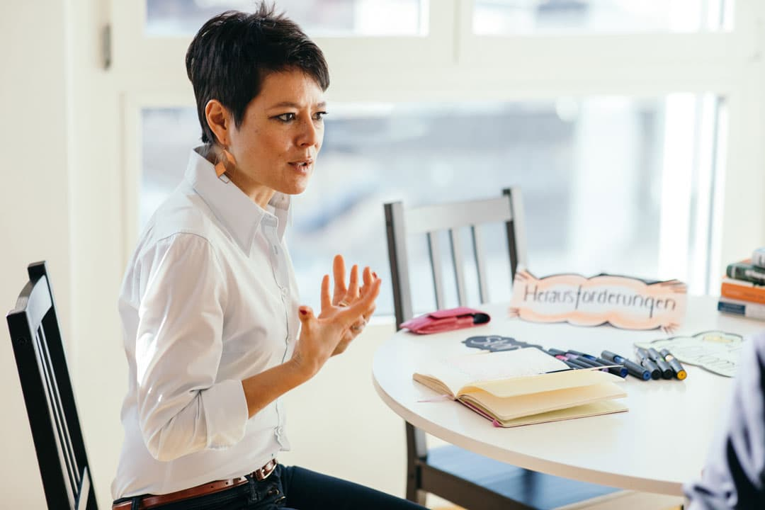 Ancilla Schmidhauser coacht Unternehmer