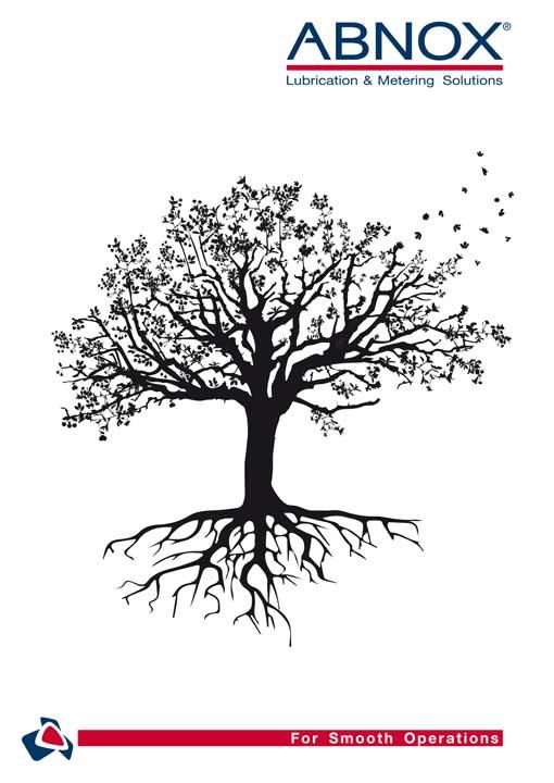 ABNOX Portraitbroschüre mit dem Kirschbaum