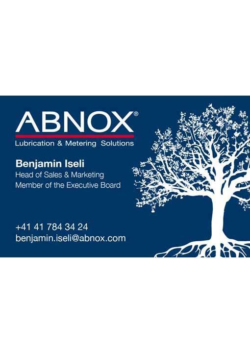 ABNOX Visitenkarten